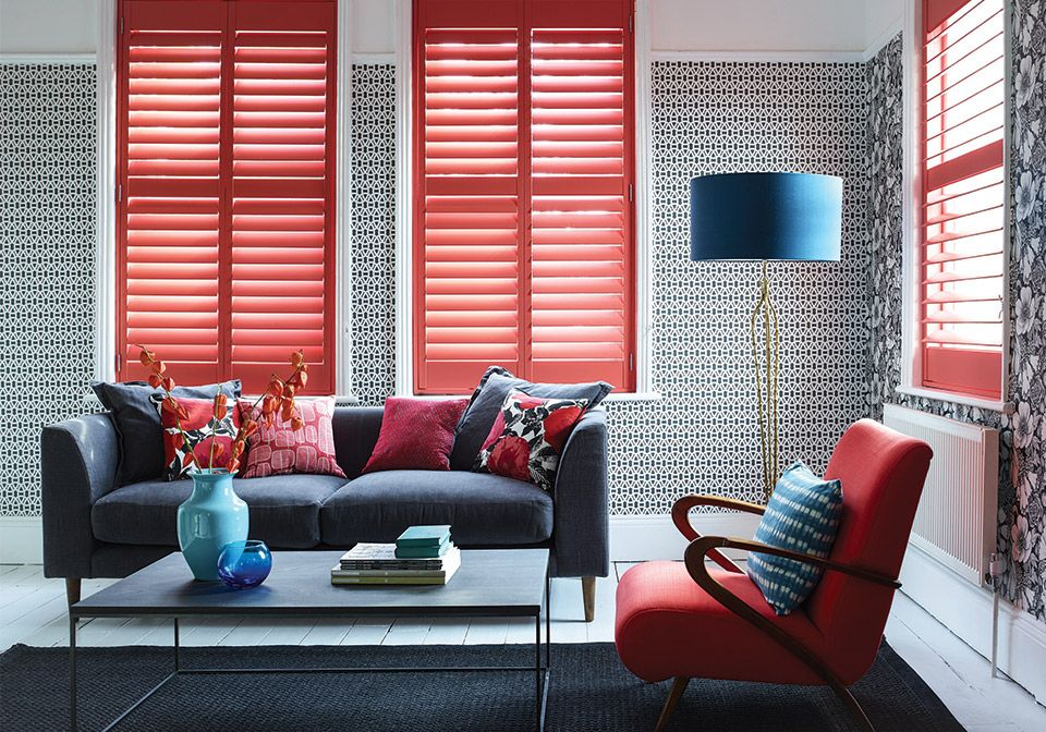 89mm slat full height shutters with a hidden rod design