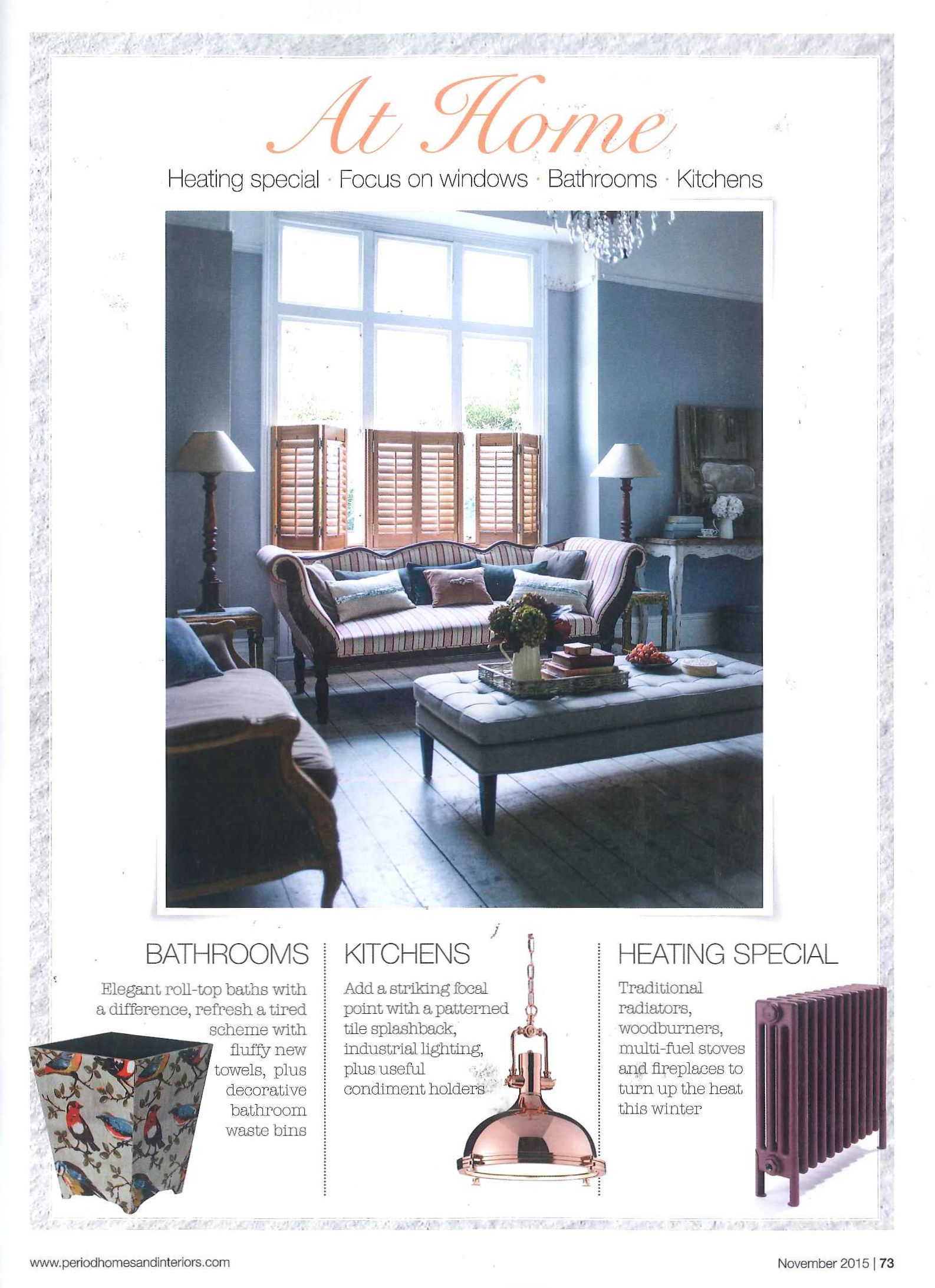 Period Homes And Interiors   In The Press California Shutters