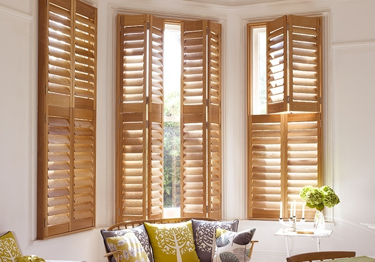 Window shutters cafe style solid wood or polyvinyl - Unfinished wood shutters interior ...